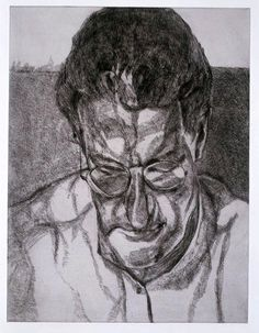The Painter's Doctor by Lucian Freud at Marlborough Fine Art (IFPDA) - Printed Editions - Ref 3156 Portrait Drawing, Painter, Artist, Lucian Freud, Freud Artist, Painting, Funny Art, Architecture Tattoo, Portrait Art