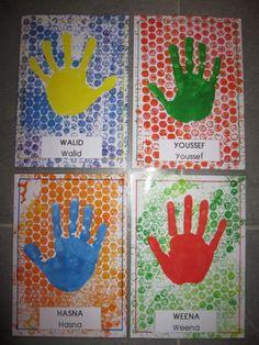 Etiquettes porte manteaux First Day Of School Activities, School Fun, Art School, Crafts For Kids To Make, Fun Crafts, Art For Kids, Birthday Charts, Kindergarten Themes, Hand Art