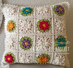 La Magia del Crochet: GRANNY FLOR PRIMAVERA EN CROCHET