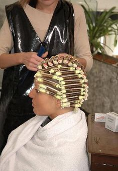 You will have pretty tight curls soon Perm Curls, Waves Curls, Perm Hair, Permed Hairstyles, Boy Hairstyles, New Perm, Curly Perm, Getting A Perm, Perm Rods