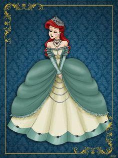 Queen Ariel - Disney Queen Designer Collection by (DeviantArt) Ariel Disney, Walt Disney, Gif Disney, Disney Little Mermaids, Ariel The Little Mermaid, Disney Dream, Disney Girls, Disney Style, Disney Love