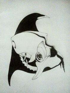 #tattoo #skull #ilcorvo