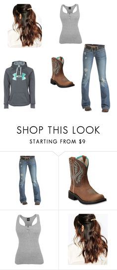 """""""Riding clothes"""" by willowgw ❤ liked on Polyvore featuring Emerson, Ariat, Suzywan DELUXE and Under Armour"""