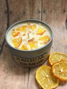 Handmade Magical Orange Candle, Soy candle with gemstones,Calming,Travel candle,… – Pins – Soy Candles İdeas Tin Candles, Soy Wax Candles, Scented Candles, Yankee Candles, Taper Candles, Candle Wax, Bougie Bio, Creation Bougie, Velas Diy