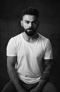 Virat Kohli's black and white headshot is oh-so-hot!