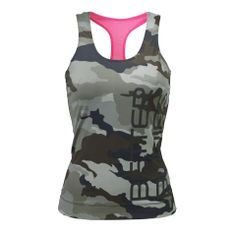 Activewear Online - Better Bodies Athlete T-Back - Green Camoprint - BB Womens Tanks - Better Bodies Women