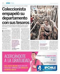 COLECCIONISTA Y AMANTE DEL  MUNDO RETRO Y VINTAGE : Entrevista Diario La Hora 04.01.16