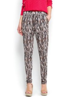 Printed jersey trousers -  Woman | OUTLET Lithuania