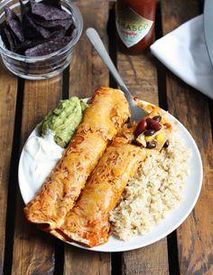 {easy double bean and corn enchiladas} // cait's plate