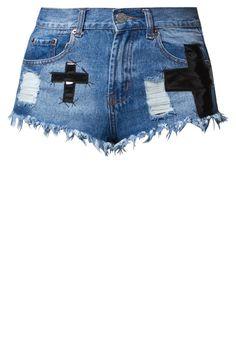 Bitching & Junkfood TRIXY Jeans Shorts - blue denim @Zalando International