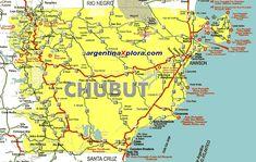 el chubut mapa de rutas de la provincia del chubut