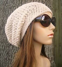 Hand Crocheted Hat Womens Hat - The Weekender Slouchy Hat in Roman Goddess - Black Friday Etsy Cyber Monday Etsy. $50.00, via Etsy.