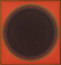 "John Stephan [USA] (1906 - 1995) ~ ""Disc 2"", 1974. Acrylic on canvas (92  x 86 cm). | #art #painting #abstract #hardedge #minimalart"