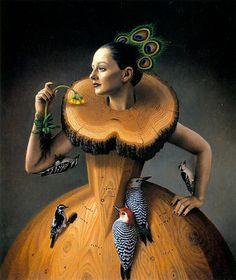 """The Ruff"" - Oil painting by Steven Kenny Art Et Illustration, Art Illustrations, Fashion Illustrations, Magic Realism, Art Sculpture, Wow Art, Pop Surrealism, Surreal Art, Oeuvre D'art"