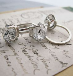 quartz crystal rings...kinda pretty!! i'd wear one.
