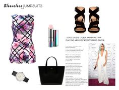 Jumpsuits by nefertiti001 on Polyvore featuring Gianvito Rossi, Lacoste, MAC Cosmetics and sleevelessjumpsuits