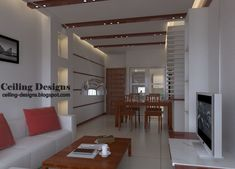 ceiling designs for living room | drop ceiling design for living room with wooden decorations