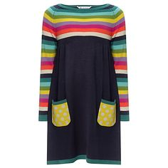 Buy John Lewis Girl Striped Knitted Dress, Multi Online at johnlewis.com