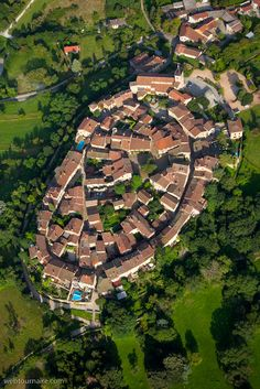Photo aérienne de Pérouges - Ain (01)