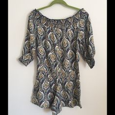 Fire Los Angeles Romper Blue Paisley Very flattering on, dressy or casual. Fire Los Angeles Shorts