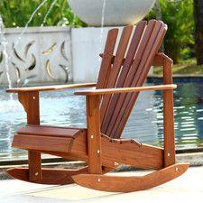 signature teak adirondack rocking chair - Adirondack Rocking Chair