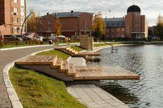 Landscape Architecture Model, Landscape And Urbanism, Landscape Design, Architecture Design, Urban Design Diagram, Natural Pond, Linear Park, Urban Intervention, Riverside Park