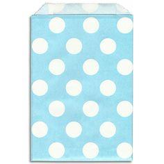Light Blue - White Dot Paper Bags - Layer Cake Shop