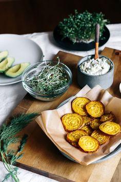 The Veggie Sandwich | Sunflower Seed Tzatziki + Golden Beets w/ Sumac + Avocado + Sprouts | Faring Well | #vegan #recipe