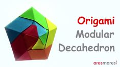 Origami (UFO like) Decahedron (easy- modular) Easy and unique model, perfect for christmas decoration!!! #origami #unitorigami #howtomake #handmade #colorful #origamiart #diy #doityourself #paper #papercraft #handcraft #paperfolding #paperfold #paperart #papiroflexia #origamifolding #instaorigami #interior #instapaper #craft #crafts #creative #hobby #оригами #折り紙 #ユニット折り紙 #ハンドメイド #カラフル