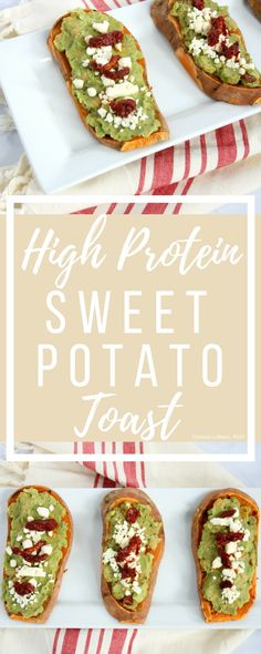 """Everyone has heard the saying breakfast is the most important meal of the day. But, what if you don't like """"breakfast foods""""? Try my savory high protein sweet potato toast. This nutritious breakfast is packed with protein, healthy fats, vitamins, and minerals. #thereciperedux"""