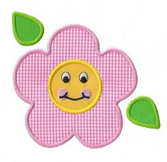 Happy Flower Applique - 3 Sizes! | Spring | Machine Embroidery Designs | SWAKembroidery.com Applique for Kids