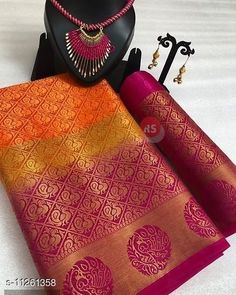 Checkout this latest Sarees Product Name: *Nirja Fab Fancy Banarasi Cotton Silk Saree* Saree Fabric: Art Silk Blouse: Running Blouse Blouse Fabric: Brocade Pattern: Woven Design Blouse Pattern: Jacquard Multipack: Single Sizes:  Free Size (Saree Length Size: 5.5 m, Blouse Length Size: 0.8 m)  Country of Origin: india Easy Returns Available In Case Of Any Issue   Catalog Rating: ★4 (323)  Catalog Name: Trendy Attractive Sarees CatalogID_2103718 C74-SC1004 Code: 046-11261358-4761