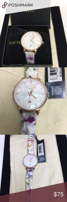 Woman's Ted Baker Watch NWT Beautiful Ted Baker Watch with Adjustable Leather Band. Watch Works Perfectly! Ted Baker London Accessories Watches