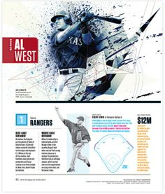 ESPN Magazine 'MLB Preview' - NOPATTERN / Chuck Anderson: Art, design, & creative direction