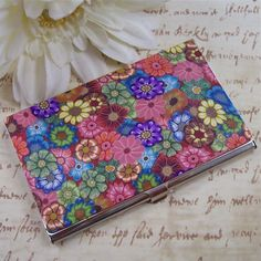 Polymer Clay Business Card  Case by polymerclayshed on Etsy