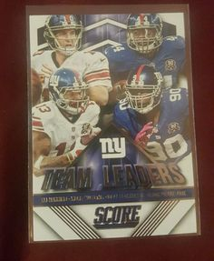 2015 Score Team Leaders #7 A.Williams/Eli Manning/J.Pierre-Paul/Odell Beckham in Sports Mem, Cards & Fan Shop, Cards, Football | eBay