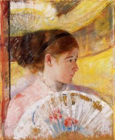 1879 At the Theater - Mary Cassatt collection privée