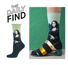 """The Daily Find: Hot Sox Mona Lisa Socks"" by polyvore-editorial ❤ liked on Polyvore featuring HOT SOX and DailyFind"