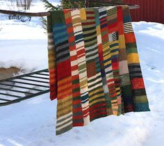 Great idea for using scraps of wool