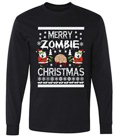 Merry Zombie Ugly Christmas Sweater long sleeve T-Shirt