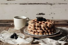 Whole Wheat Almond Waffles with Blackberry VanillaSyrup - Home - Pastry Affair