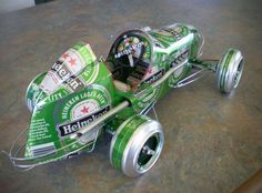 Miniature Car Models Made From Recycled Beer Cans