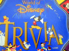 Disney Trivia Board Game Mattel Mickey Mouse Ears Age 7 Up Gold Tin Questions #Mattel