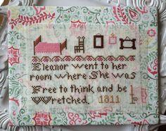 No 5 Jane Austen, to Eleanor's Room / PDF Pattern Download - The Sampler Girl Studio