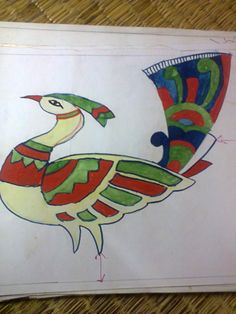 freehand design of peacock