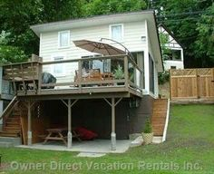 Shawnigan Lake Accommodation - Romantic Getaway Or Restful Retreat, for one Or Two People. Wood Patio, Romantic Getaways, Vancouver Island, East Side, Mountain View, Vacation Rentals, Shed, Cottage, Ceiling
