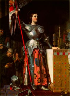 Famous Catholic Saints | FAMOUS INGRES IMAGE OF THE SAINT AT THECORONATION OF CHARLES VII