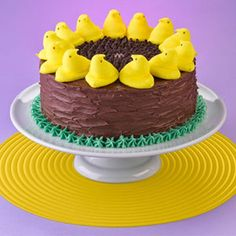 Peeps + Chocolate Cake = Heaven