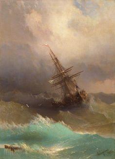 A finales del siglo XIX, el pintor armenio-ruso Ivan Konstantinovich Aivazovsky  creaó espectaculares pinturas de paisajes marinos que capturan la hermosa y brillante esencia de las aguas tumultuosas .