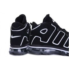 7053c4f7bab9 Nike Air Max Basketball Shoes   Nike Air Max More Uptempo basketball shoes  in black and white